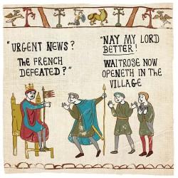 Waitrose in Village - Humorous Card - Hysterical Heritage by Ian Blake
