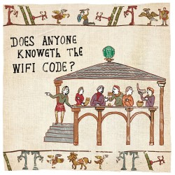 Wifi Code The Bayeux Tapestry - Humorous Card - Hysterical Heritage by Ian Blake