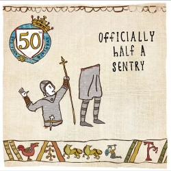 50th Birthday Half Century - Humorous Card - Hysterical Heritage by Ian Blake