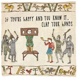 Happy Clap your Hands Guillotine - Humorous Blank Card - Hysterical Heritage by Ian Blake