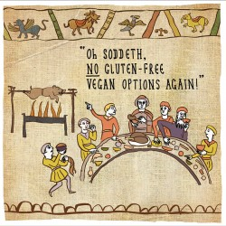 No Gluten-Free Vegan Options - Humorous Card - Hysterical Heritage by Ian Blake