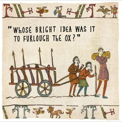 Furlough The Ox - Humorous New Normal Greeting Card - Hysterical Heritage by Ian Blake (472039)
