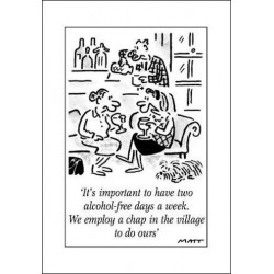 MATT - It's Important To Have Alcohol Free Days - Humorous Blank Birthday Funny Greeting Card