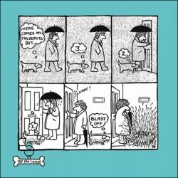 Blast Off Favourite Bit Funny Dog Shake off Rain Humour Greeting Card - Off The Leash (CM-054104)