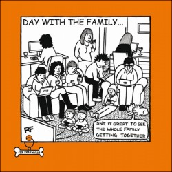 Family Get Together Funny Dog Humour Greeting Card - Off The Leash (CM-054142)