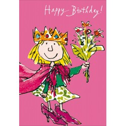 Happy Birthday Girl - Dress up fun Greeting Card By Quentin Blake
