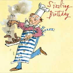 Sizzle Sausage Chef Happy Birthday Greeting Card By Quentin Blake