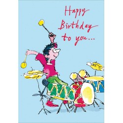 Happy Birthday to you - Drummer Boy Greeting Card By Quentin Blake
