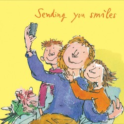 Sending You Smiles Blank Greeting Card By Quentin Blake (471780)