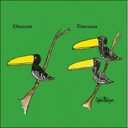Onecan Toucans - Funny Humorous Blank Greeting Card by Spike Milligan - Woodmansterne