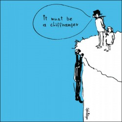 Cliffhanger Funny Humorous Blank Greeting Card by Spike Milligan - Woodmansterne