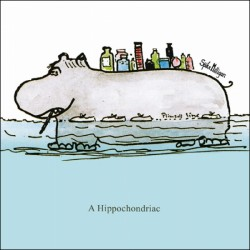 Hippochondriac Hippo - Funny Humorous Blank Greeting Card by Spike Milligan - Woodmansterne