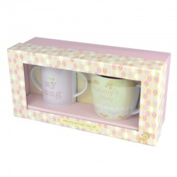 Mummy & Baby Girl Pink Mug Set
