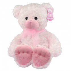 "Large 21"" Nursery Pink Teddy Bear Baby Girl Soft Toy Gift"