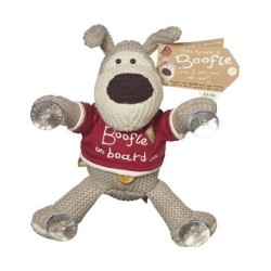 """Boofle 7"""" Teddy Bear Plush Suction Toy Boofle On Board"""