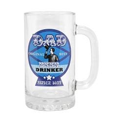 Dad Best Beer Drinker Glass Tankard In Gift Box