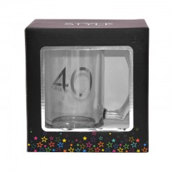 40th Birthday Glass Tankard