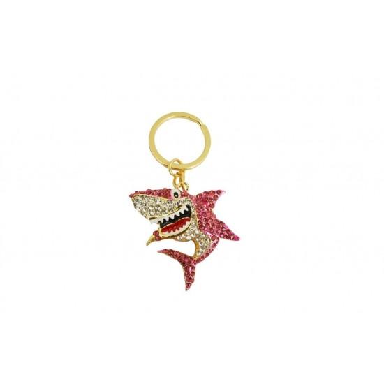Diamante Shark Keyring & Bag Charm By Xpression Gifts