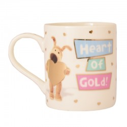 Boofle Heart Of Gold Ceramic Mug with Gift Box