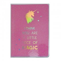 I Think You Are A Little Piece Of Magic A5 Glitter Notebook