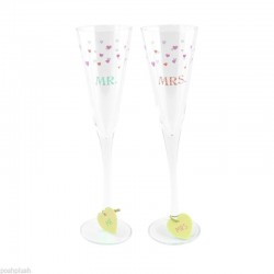 Wedding Boutique Mr and Mrs Champagne Flutes