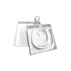 Just Married Wedding Ceramic Horseshoe