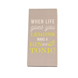 When Life Gives You Lemons Make  A Gin & Tonic 80G Milk Chocolate Bar Greeting Card