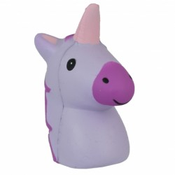 Purple Unicorn Head Squishy
