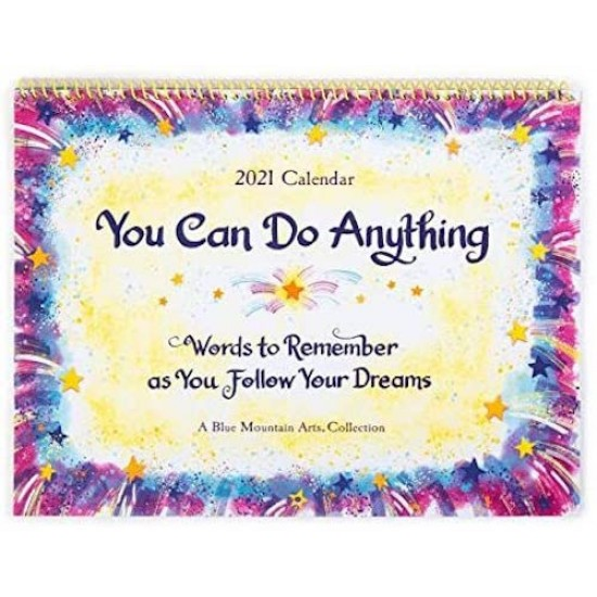 2021 'You can do Anything' Verses LARGE Calendar by Blue Mountain Arts