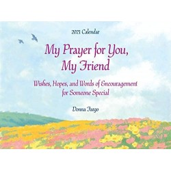 2021 'A Prayer for you my Friend' Verses LARGE Calendar by Blue Mountain Arts
