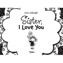 2021 SISTER I Love You Beautiful Verses LARGE Calendar by Blue Mountain Arts