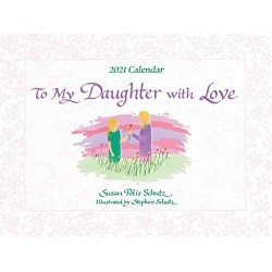 2021 DAUGHTER with Love Verses LARGE Calendar by Blue Mountain Arts
