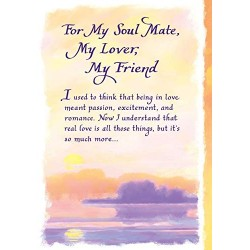 Blue Mountain Arts: For My Soul Mate Worded Greeting Card