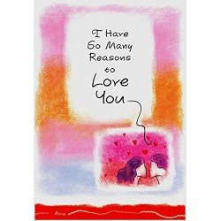 Blue Mountain Arts - I Have So Many Reasons to Love You - Handmade Paper Greeting Card for Any Occasion with Sentimental Verse (WC312) Kiss Water Colour Feelings