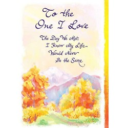 Blue Mountain Arts: To The One I Love Worded Greeting Card
