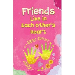 Blue Mountain Arts Friends Live in Each Others Hearts Little Keepsake Book (AGE030)