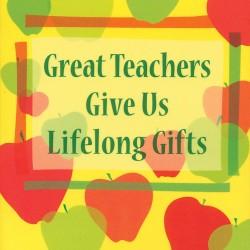 Blue Mountain Arts Great Teacher Give Us Lifelong Gifts Little Keepsake Book