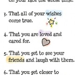 Blue Mountain Arts Ten Things I Wish For You Every Day Bookmark (BKM141)