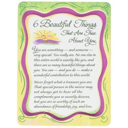 Blue Mountain Arts Miniature Easel Print with Magnet: 6 Beautiful Things