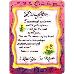Blue Mountain Arts Miniature Easel Print with Magnet: Daughter