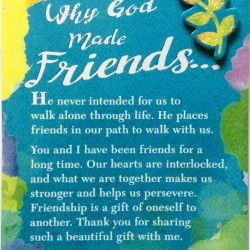 Blue Mountain Arts Miniature Easel Print with Magnet: God Made Friends