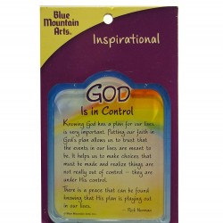 Blue Mountain Arts Miniature Easel Print with Magnet: God Is In Control