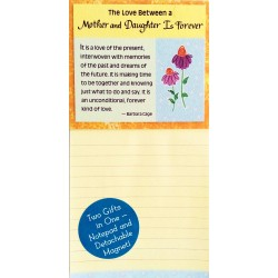 The Love Between A Mother And Daughter Is Forever Notepad And Magnet Blue Mountain