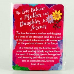 Blue Mountain Arts Miniature Easel Print with Magnet: Love Between Mother & Daughter