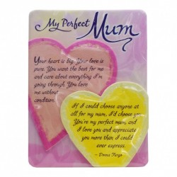 Blue Mountain Arts Miniature Easel Print with Magnet: My Perfect Mum