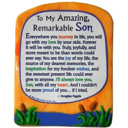 Blue Mountain Arts Miniature Easel Print with Magnet: For A Great Son