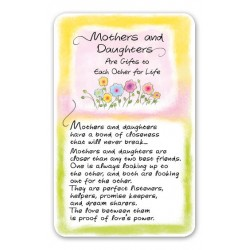 Mothers and Daughters Are Gifts Keepsake Wallet Card (WC602) Blue Mountain Arts