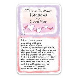 I Have So Many Reasons To Love You Keepsake Wallet Card (WC607) Blue Mountain Arts