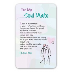 For My Soul Mate Keepsake Wallet Card (WC608) Blue Mountain Arts