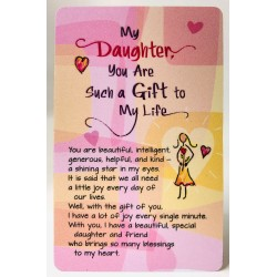 My Daughter You Are A Gift Keepsake Wallet Card (WC613) Blue Mountain Arts